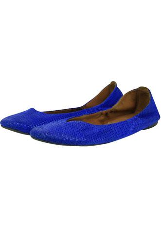 Sapatilha Ana Capri Textura Azul