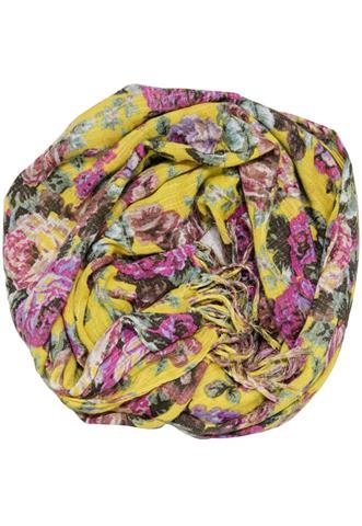 Echarpe Accessorize Floral Amarelo/Rosa