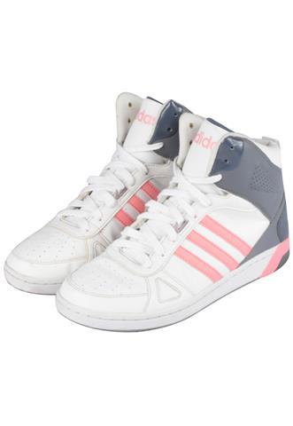 Tênis Mid Adidas Listras Branco