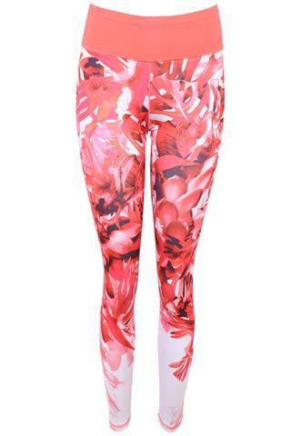 Legging Adidas Floral Rosa