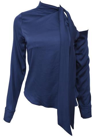 Blusa Adriana Restum Ombro Azul