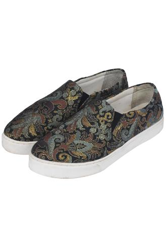 Slip On Arezzo Estampado Azul
