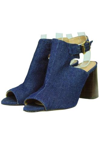 Tamanco Arezzo Jeans Azul