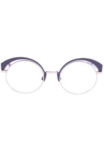 Óculos de Grau Atitude Redondo Dourado/Marrom