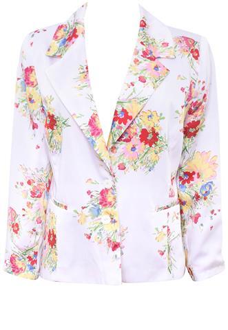 Blazer Avanzzo Floral Branco