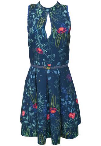 Vestido Antix Floral Azul