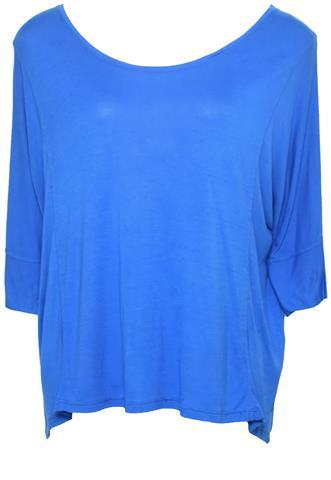 Blusa Cantão Costuras Azul