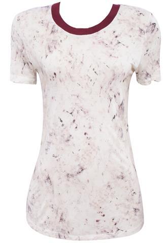 Blusa Canal Tie Dye Branca/Roxa