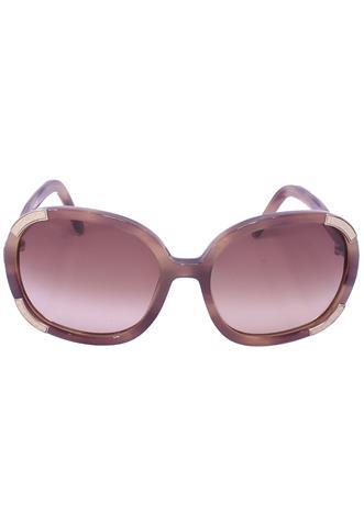 Óculos Chloé Redondo Marrom