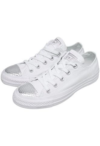 Tênis Converse Escamas Branco/Prata