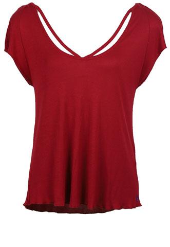 Blusa Colcci Stripes Vermelha