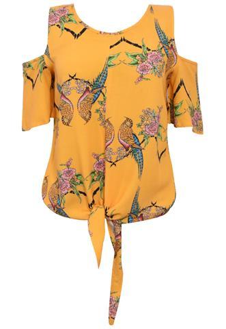 Blusa Colcci Amarração Amarela