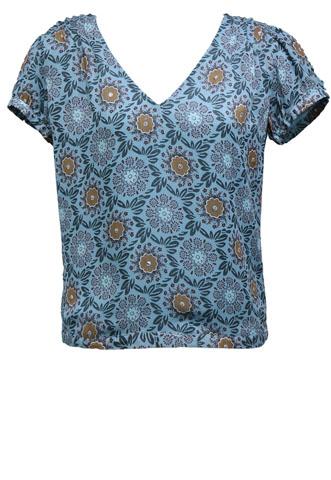 Blusa Costes Floral Azul