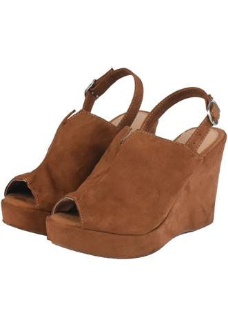 Sandália Dafiti Shoes Camurça Caramelo