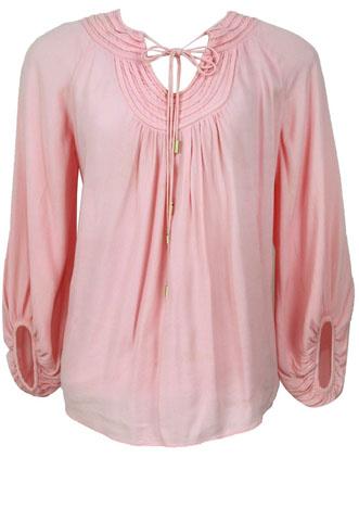 Blusa Diane Von Furstenberg Amarração Rosa