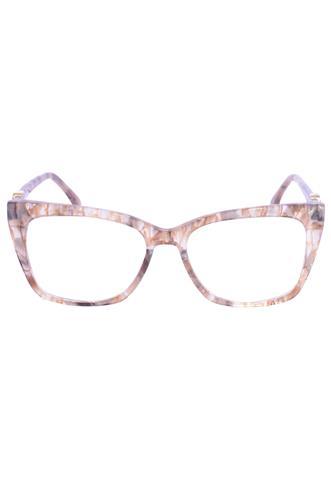 Óculos de Grau Fendi Marmorizado Bege
