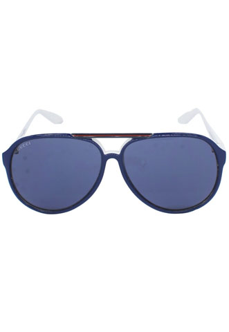 Óculos de Sol Gucci Aviador Azul