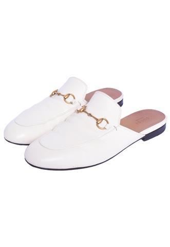 Mule Gucci Slipper  Princetown Branco
