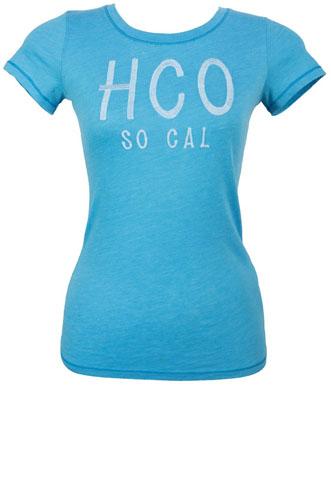 Blusa Hollister Escrito Azul
