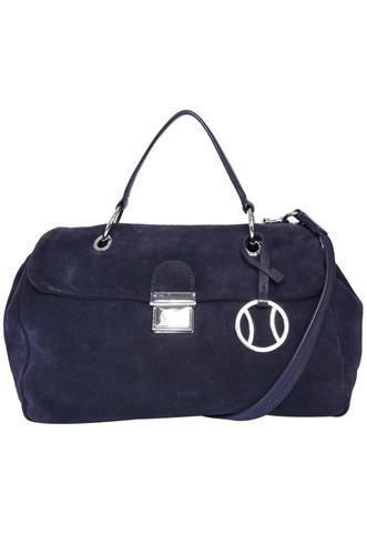Bolsa Lacoste Camurça Azul