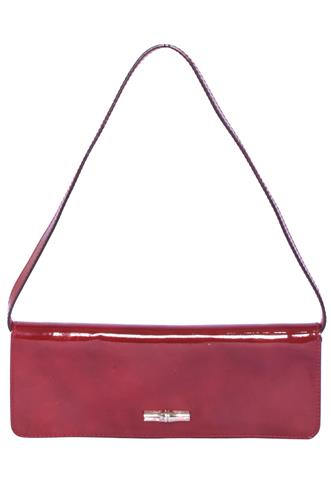 Bolsa Longchamp Verniz Vinho