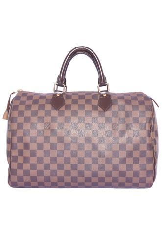 Bolsa Louis Vuitton Speedy 35 Damier Ebene Marrom