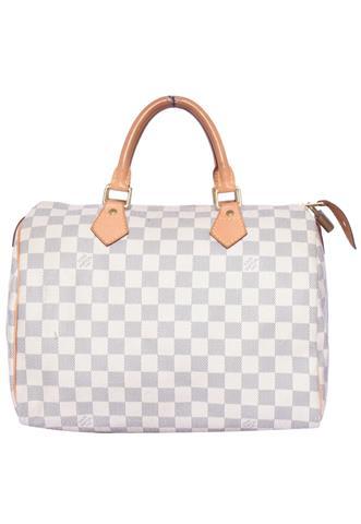 Bolsa Louis Vuitton Speedy 30 Bege/Azul