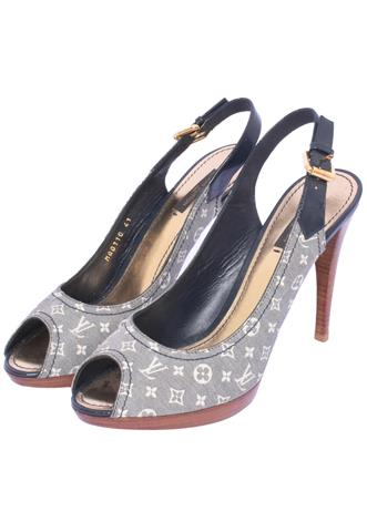 Peep Toe Louis Vuitton Azul