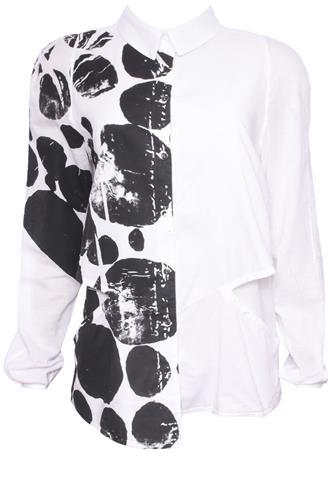 Camisa Mara Mac Bolso Branca/Preta