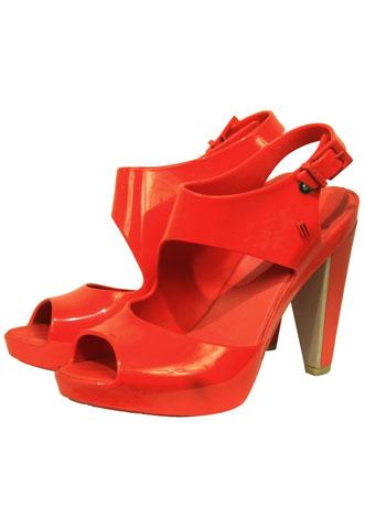 Sandália Melissa Recorte Vermelha