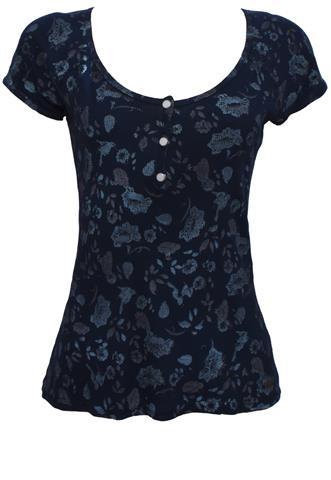 Blusa Marcia Mello Floral Azul