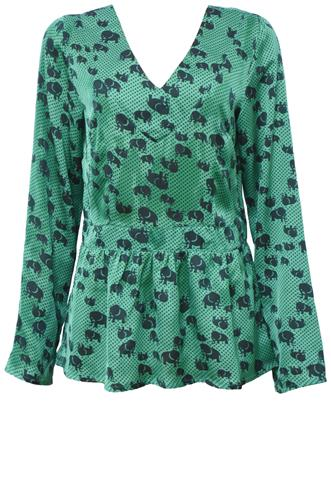Blusa Marcia Mello Poás Verde