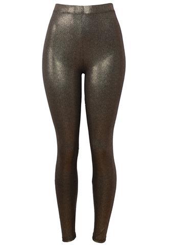 Legging Necessary Clothing NYC Brilho Dourada
