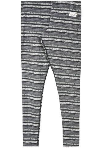 Legging Nike Estampada Cinza/Branca