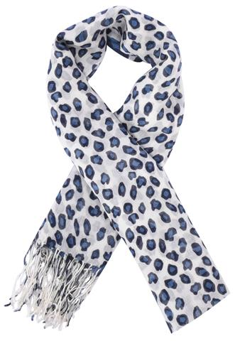 Echarpe Planet Girls Animal Print Cinza/Azul