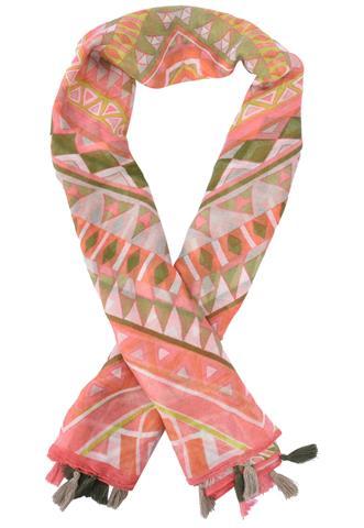 Lenço Polo Wear Geométrico Rosa/Verde