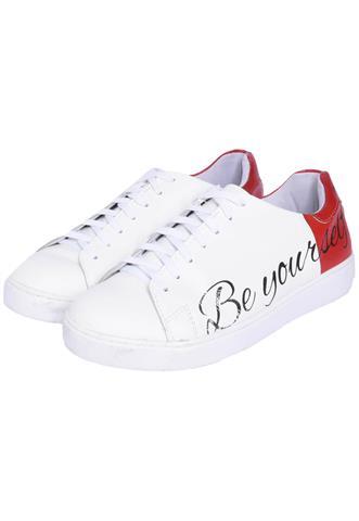 Tênis Polo Wear Be Yourself Branco/Vermelho