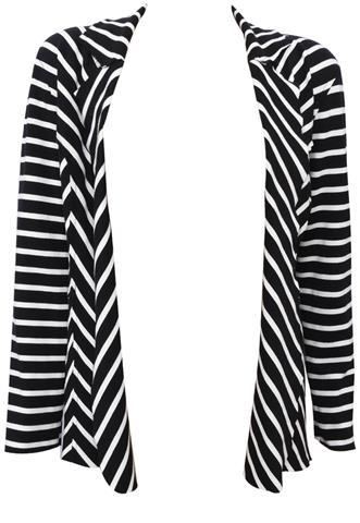 Blazer Polo Wear Listras Preto/Branco