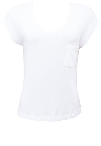 Blusa Polo Wear Canelada Branca