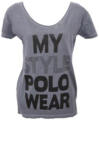 Blusa Polo Wear Hotfix Cinza