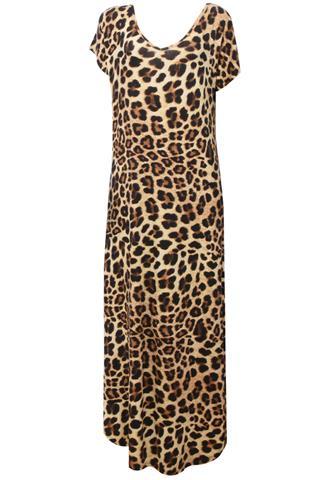 Vestido Longo Quintess Onça Bege