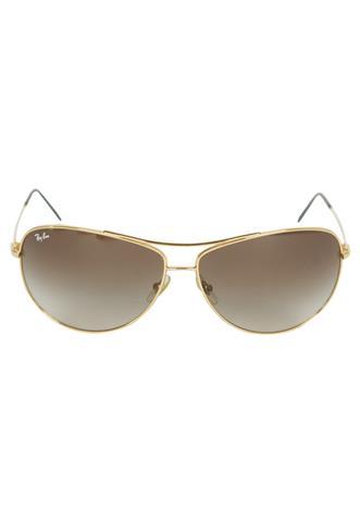 Óculos de Sol Ray Ban Degrade Marrom/Dourado