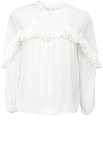 Blusa Rose Nogueira Babado Branca