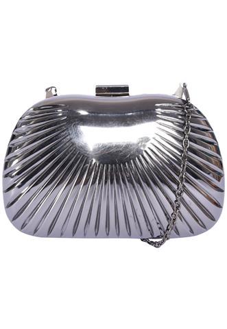 Clutch Metalizada Prata