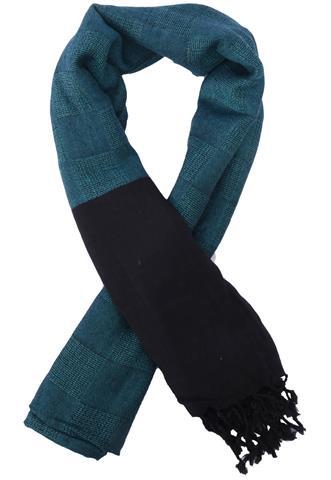 Echarpe Sem Marca Bicolor Azul/Preto