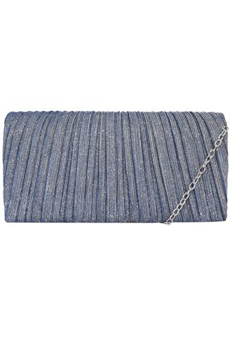 Clutch  Lurex Azul