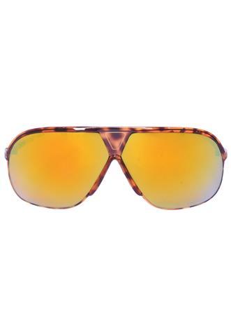 Óculos de Sol Espelhado Marrom