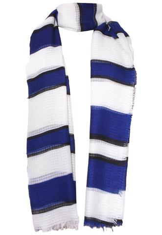 Lenço Listras Azul/Branco/Preto