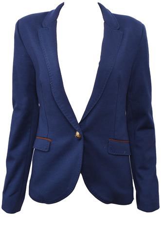 Blazer Sem Marca Botão Azul