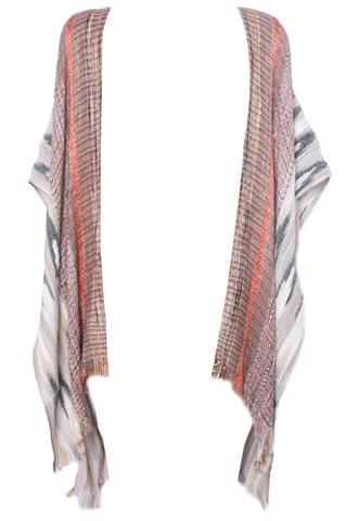Kimono Brilho Bege/Laranja